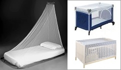 Myggnät säng
