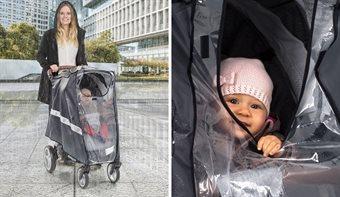 Regnskydd barnvagn