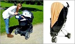 Solskydd barnvagn
