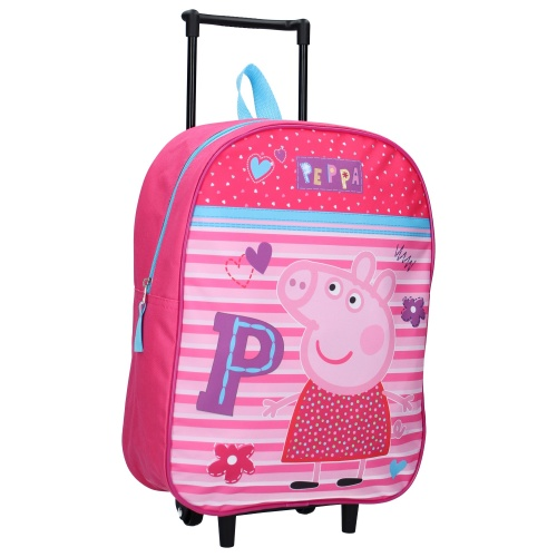Liten resväska barn Peppa Pig rosa