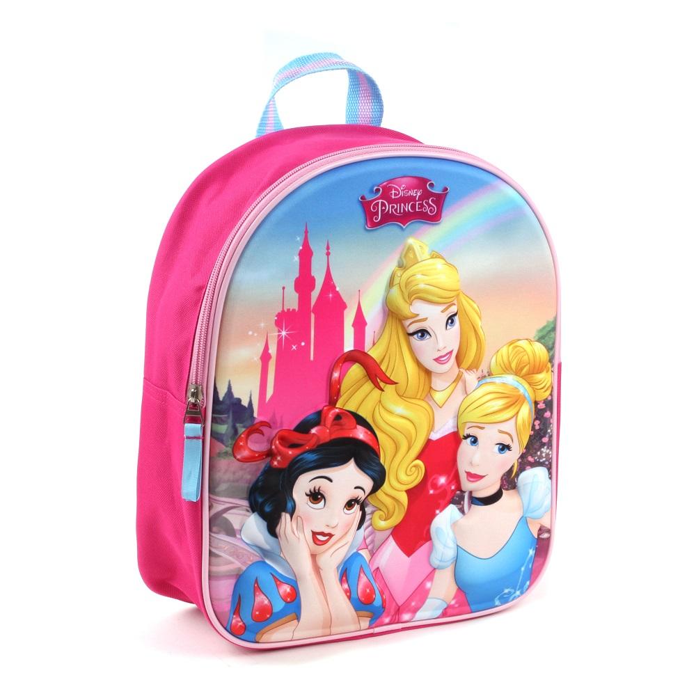 Ryggsäck barn Disney princessor rosa 3D