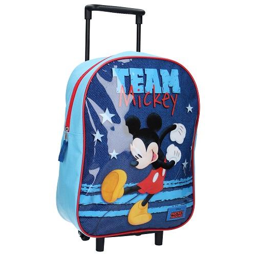 Liten resväska barn Mickey Mouse blå