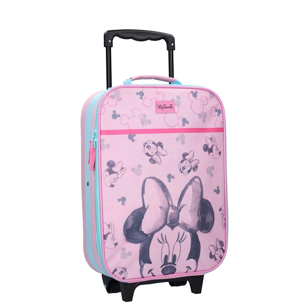 Resväska barn Minnie Mouse rosa