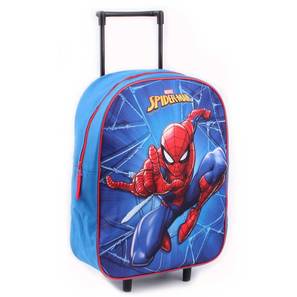Resväska barn Spiderman blå