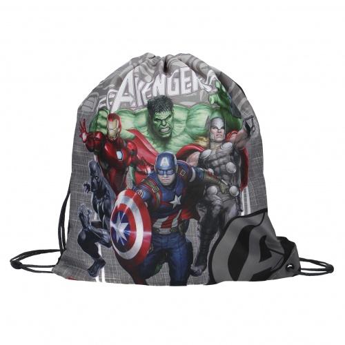 Gympapåse Avengers svart och grå