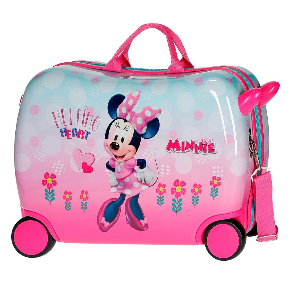 Barnresväska att åka på Minnie Mouse rosa och ljusblå