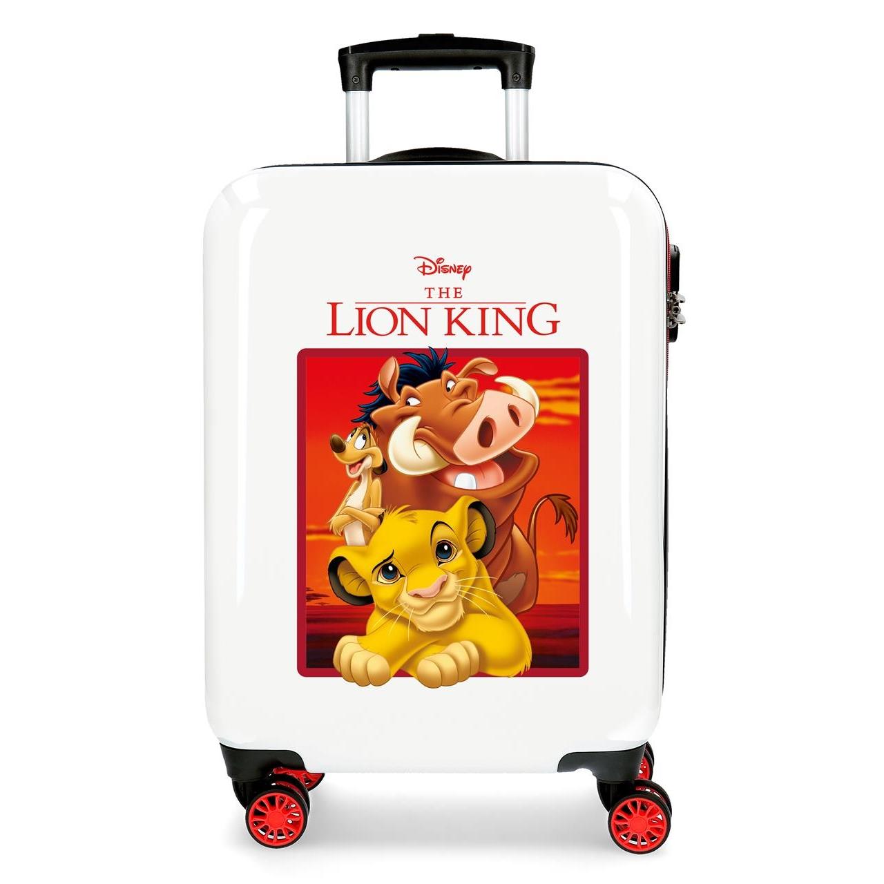 Resväska barn Lejonkungen vit och röd ABS med teleskophandtag