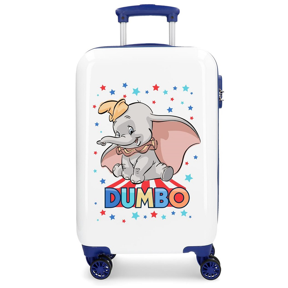 Resväska barn Dumbo vit och blå ABS