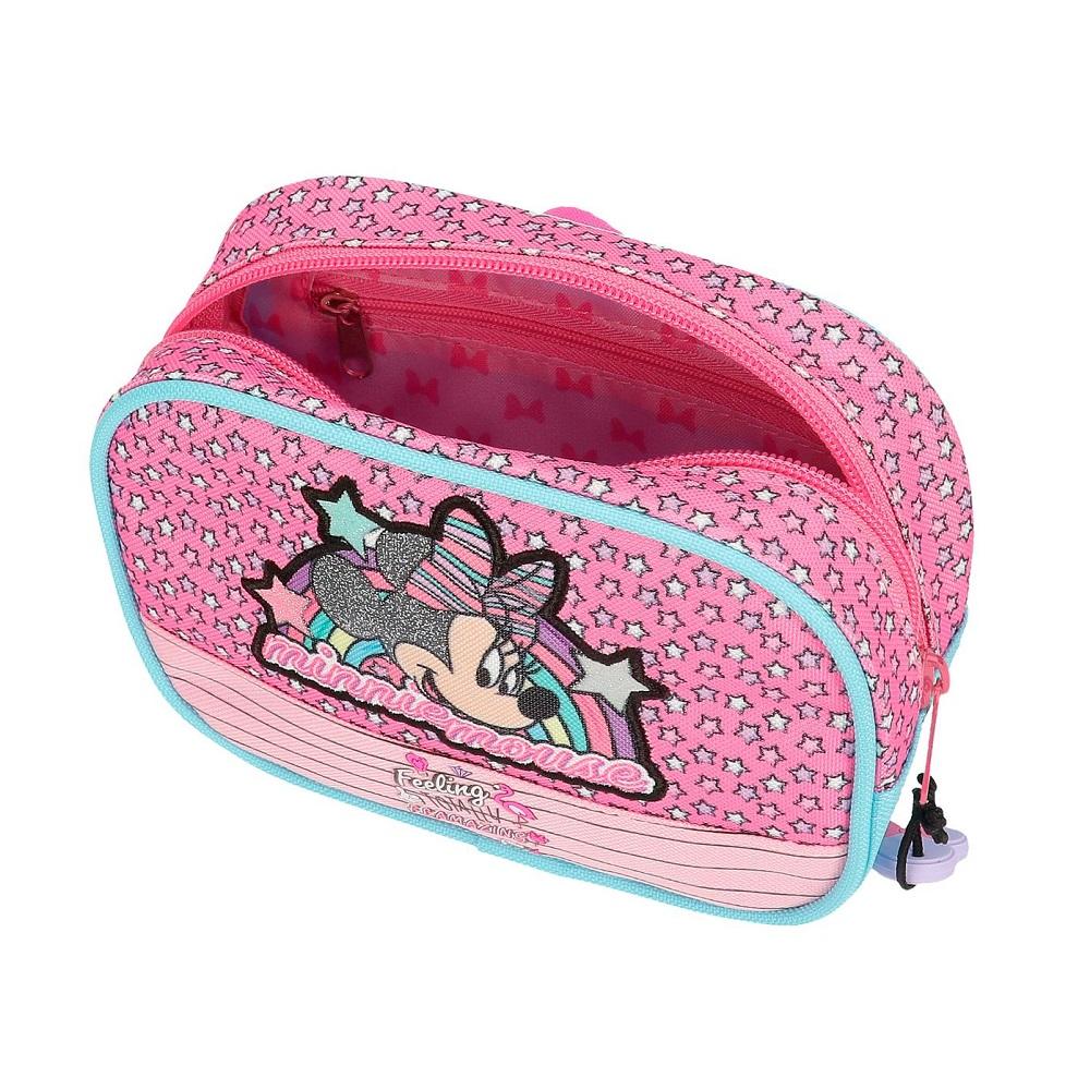 Axelremsväska barn Minnie Mouse rosa