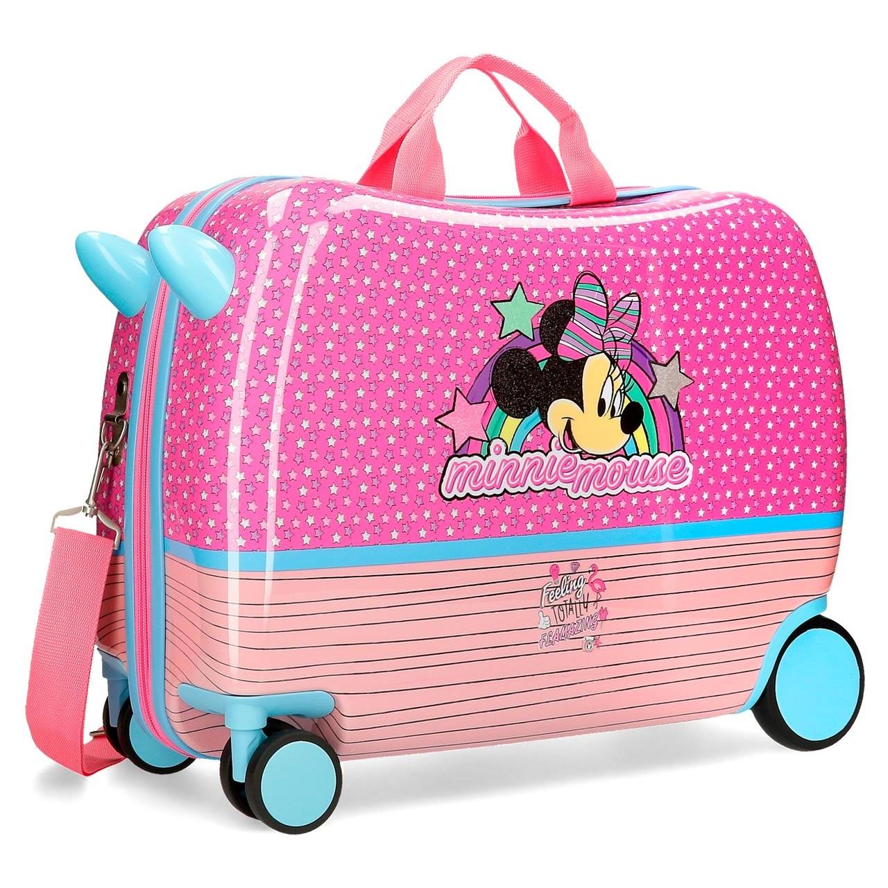 Resväska barn att åka på Minnie Mouse rosa