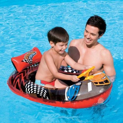 Uppblåsbar badbåt Bestway Hot Wheels
