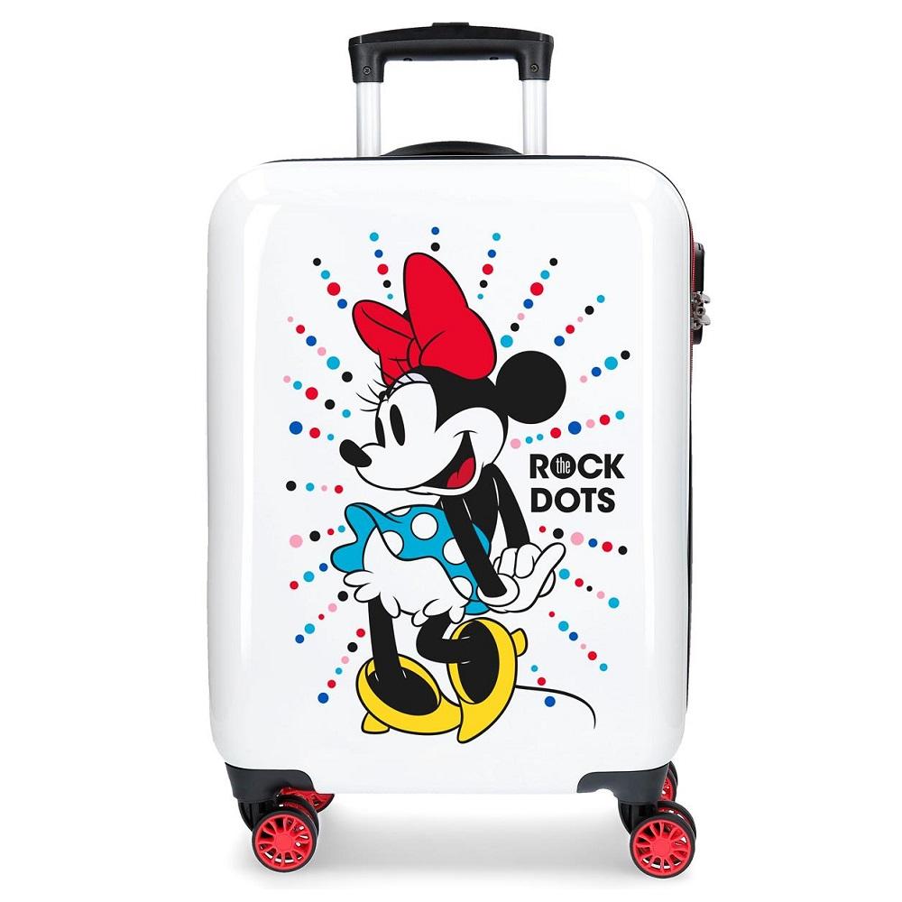 Barnresväska Minnie Mouse vit och röd ABS