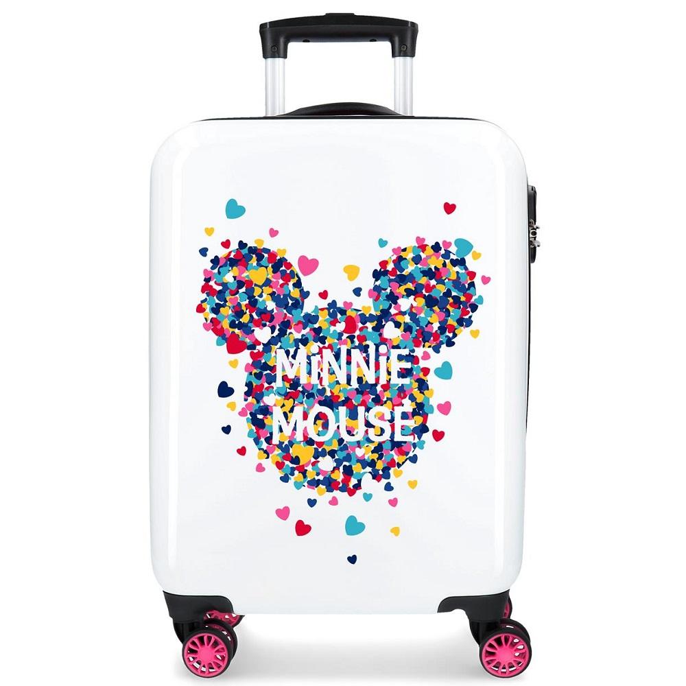 Barnresväska Mickey Mouse vit och rosa ABS