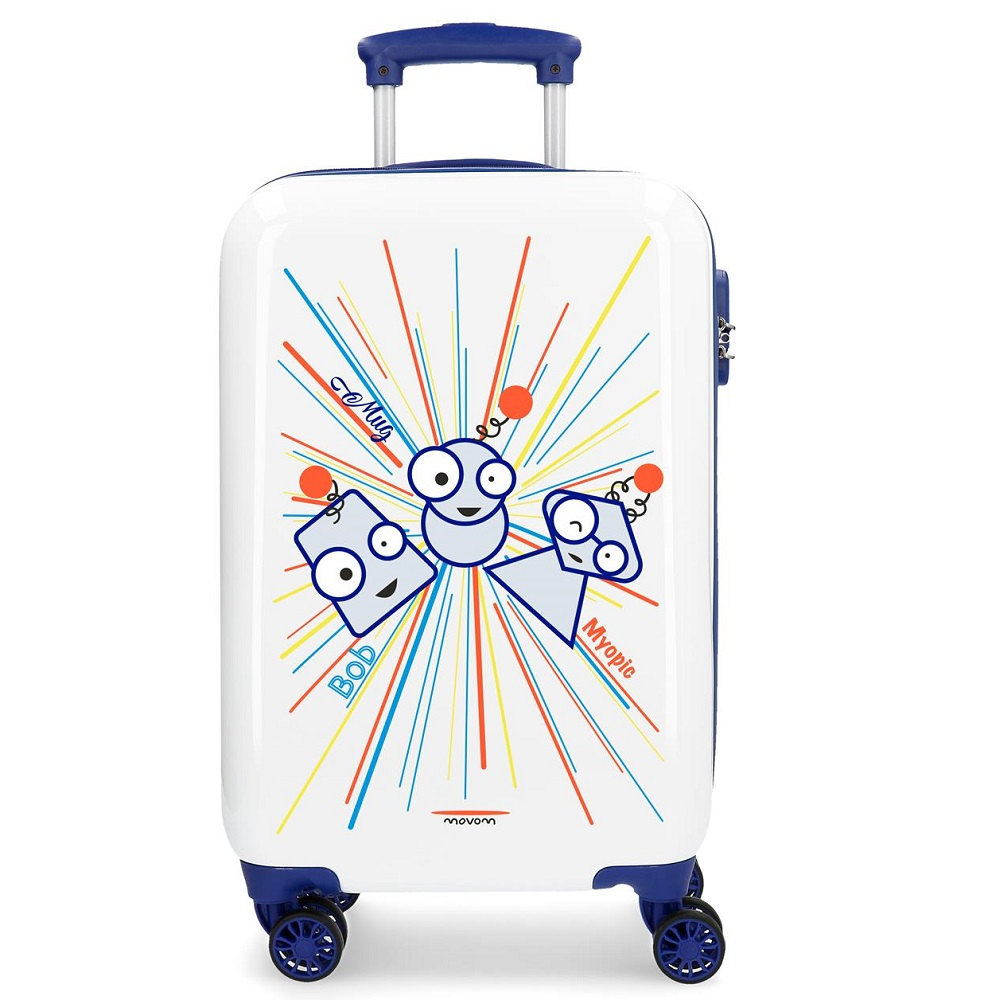 Resväska barn Movom Myopic vit och blå