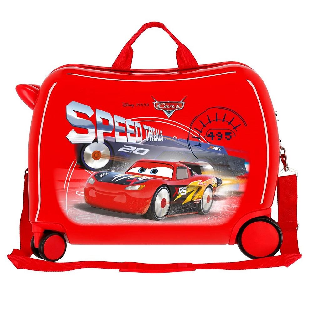 Resväska att åka på Joumma Bags Bilar röd