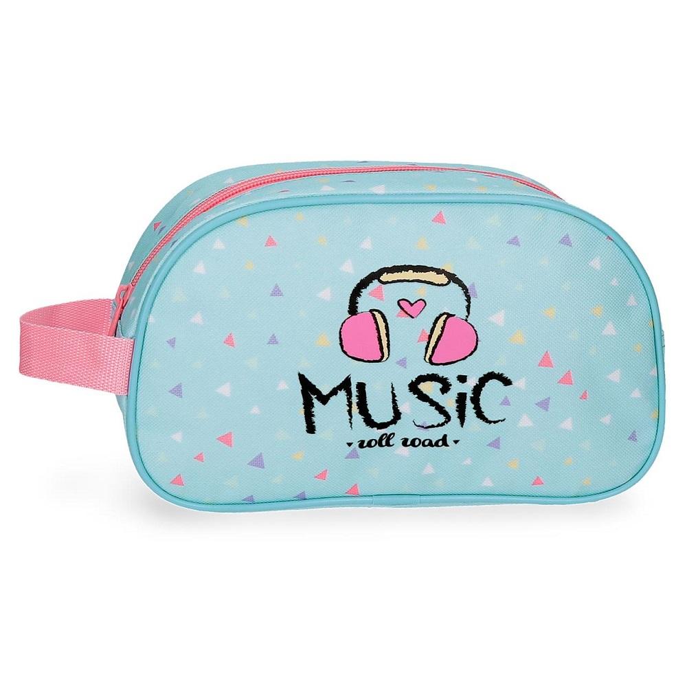 Necessär barn Music turkos och rosa