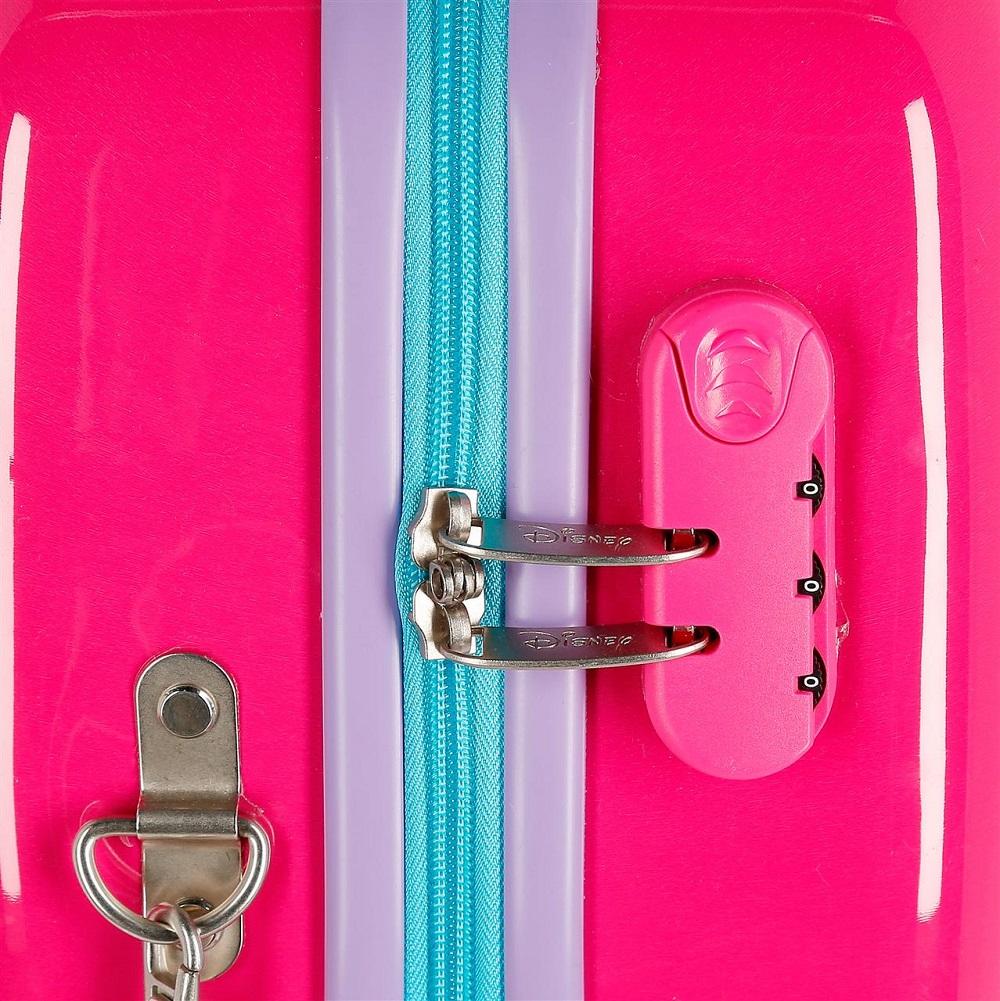Resväska att åka på Joumma Bags Minnie Mouse rosa detalj