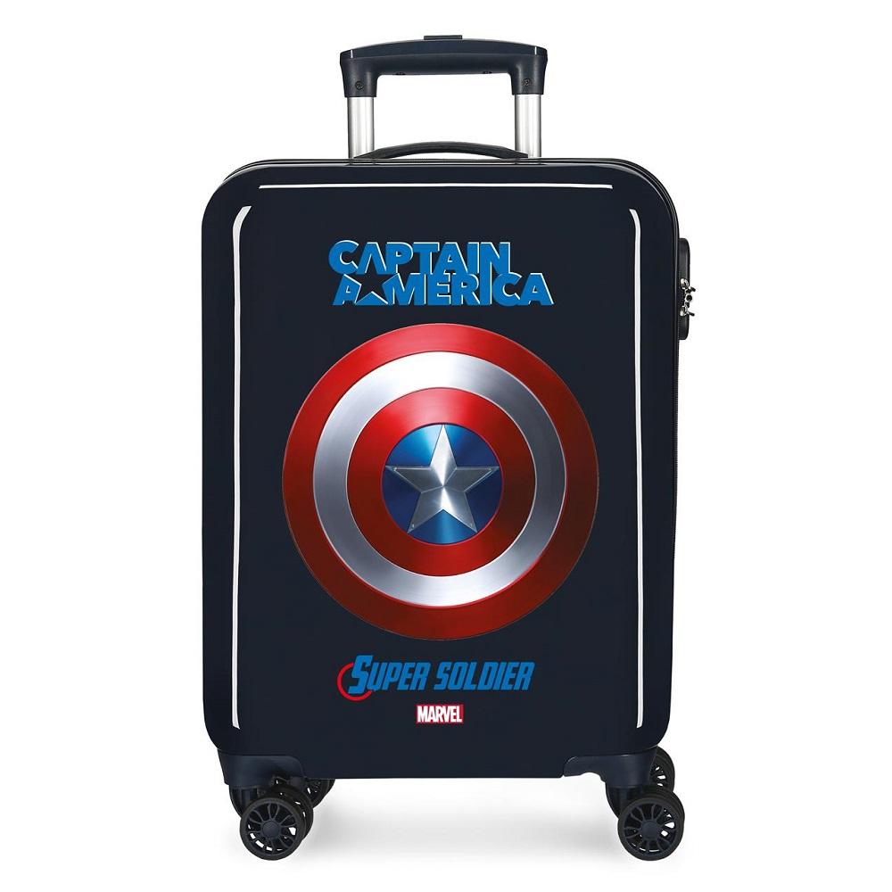 Resväska barn Captain America svart ABS med teleskophandtag