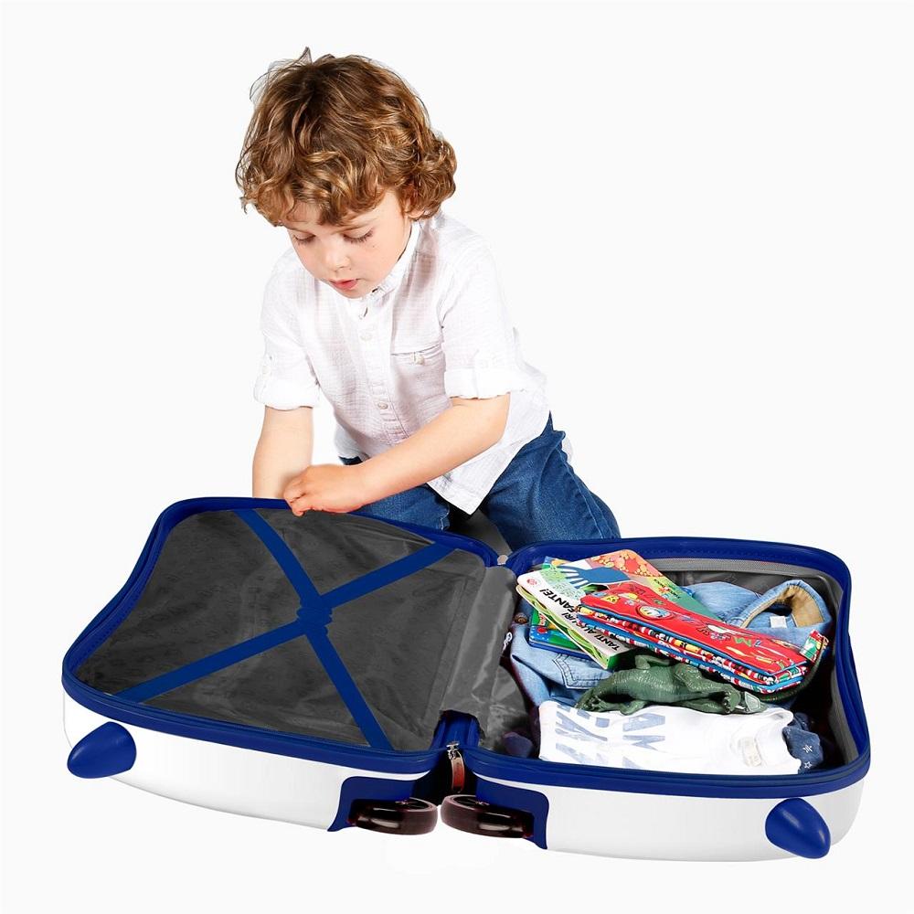 Resväska barn att åka på Avengers vit och blå