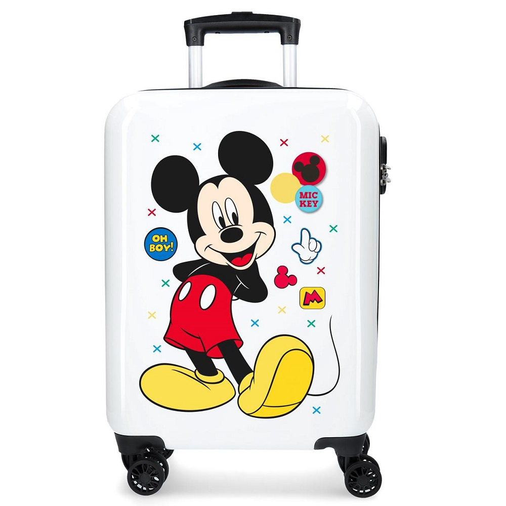 Resväska barn Mickey Mouse vit ABS