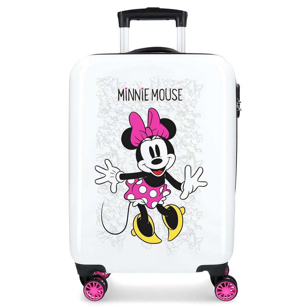 Resväska barn Minnie Mouse rosa och vit ABS