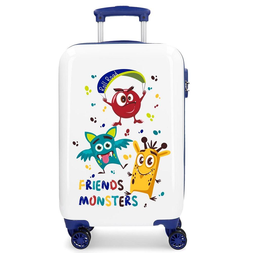 Resväska barn Movom vit och blå ABS