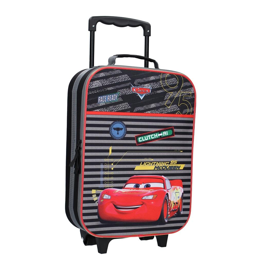 Resväska barn Bilar svart och röd