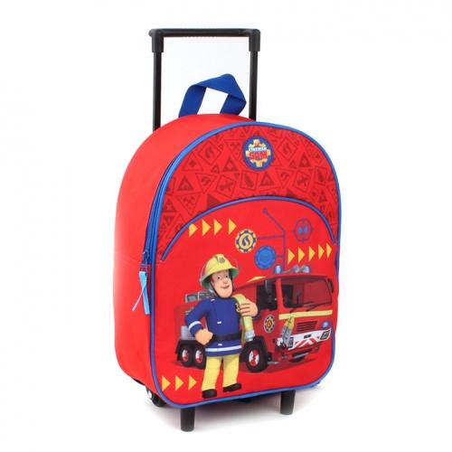 Resväska barn Brandman Sam röd
