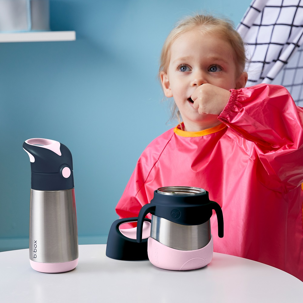 Mattermos barn med bestick B.box Insulated Food Jar Indigo Rose