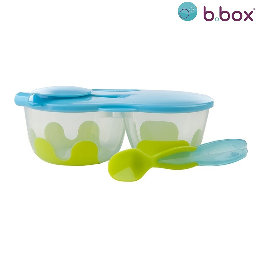 Matlåda barn med sked i locket B.box Snack Pack Aqualicious