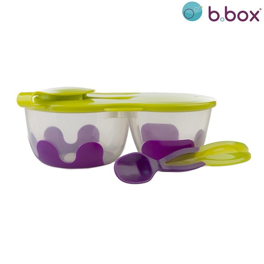 Matlåda barn med sked i locket B.box Snack Pack Graperama
