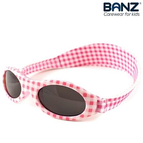 Solglasögon bebis BabyBanz Pink Checkers