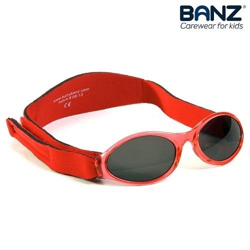 Solglasögon bebis BabyBanz Röda