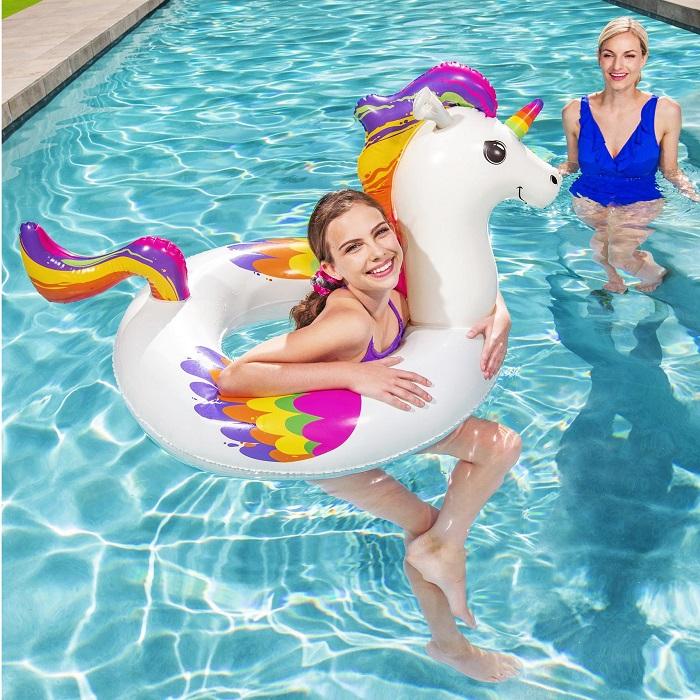 Vattenleksak Bestway uppblåsbart baddjur enhörning XL
