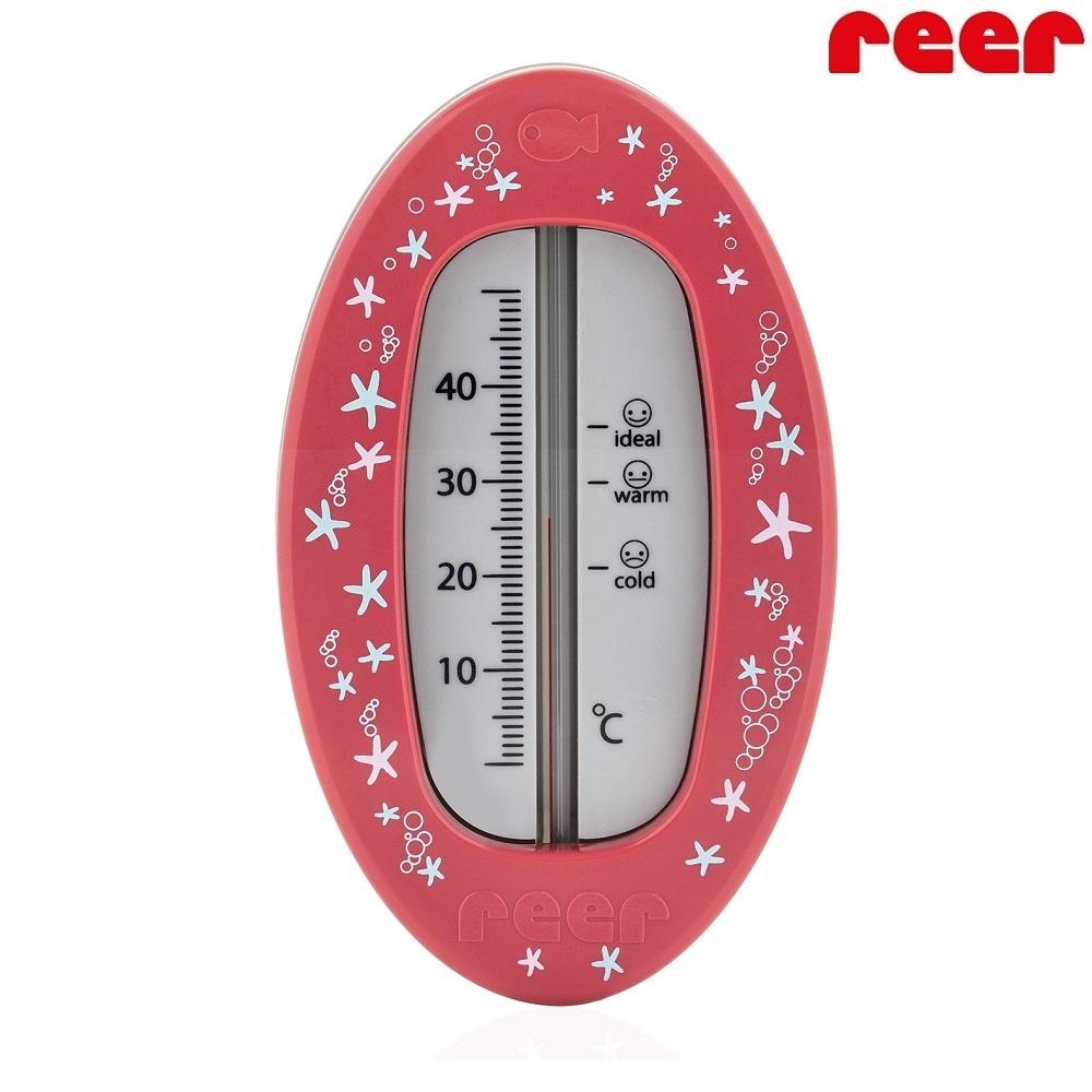 Badtermometer baby - Oval (röd)