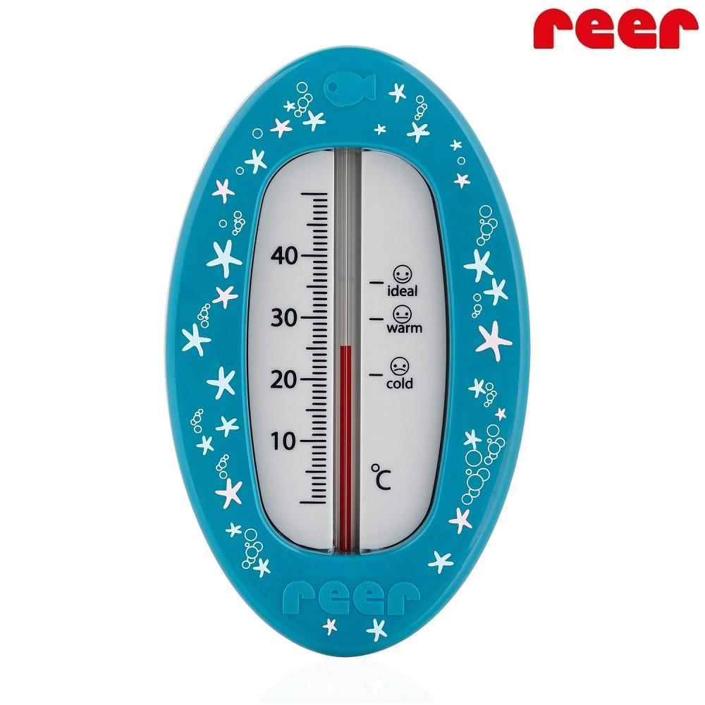 Badtermometer baby - Oval (blå)