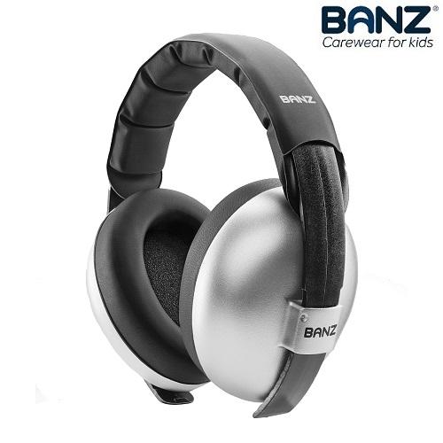 Hörselkåpor baby Banz Bubzee Silver