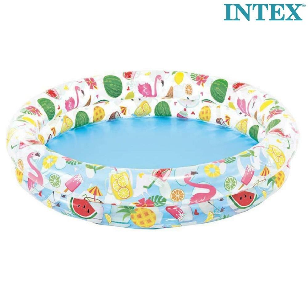 Uppblåsbar Barnbassäng Intex Fruit