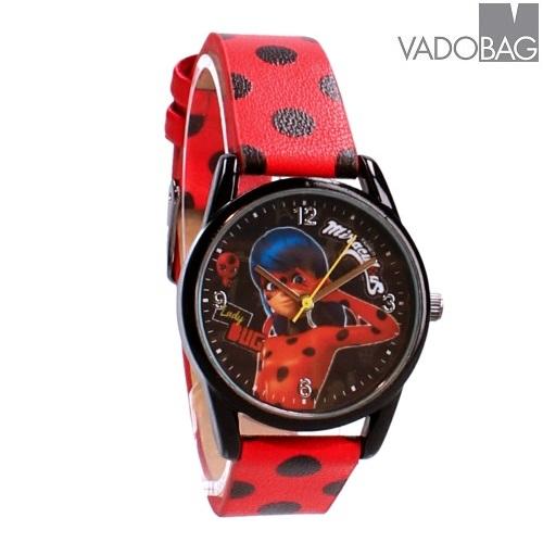 Barnklocka Super Hero Ladybug röd