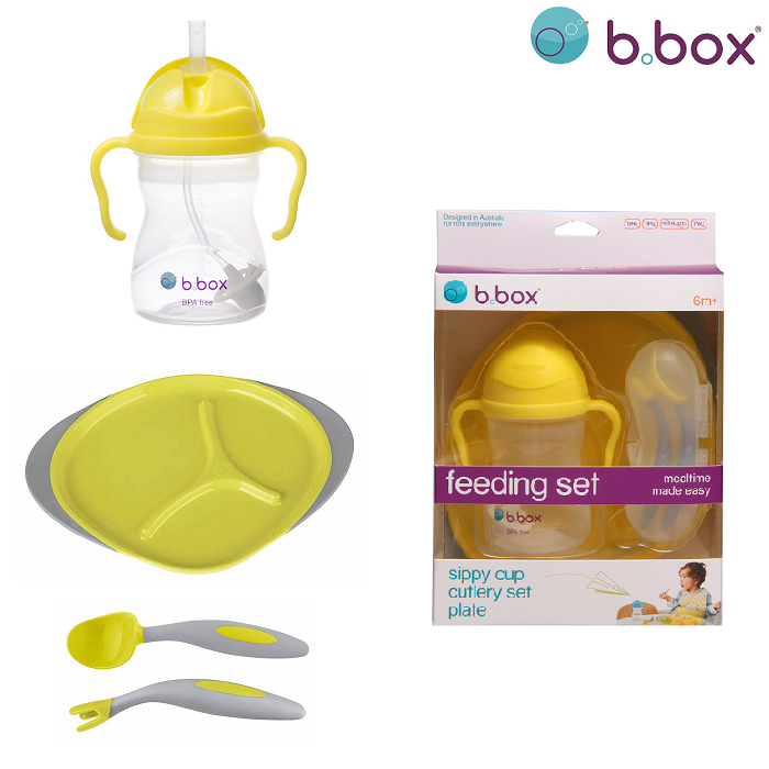 Matnings-set till bebis B.box Feeding Set Lemon Sherbet