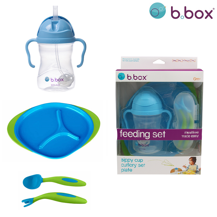 Matnings-set till bebis B.box Feeding Set Ocean Breeze