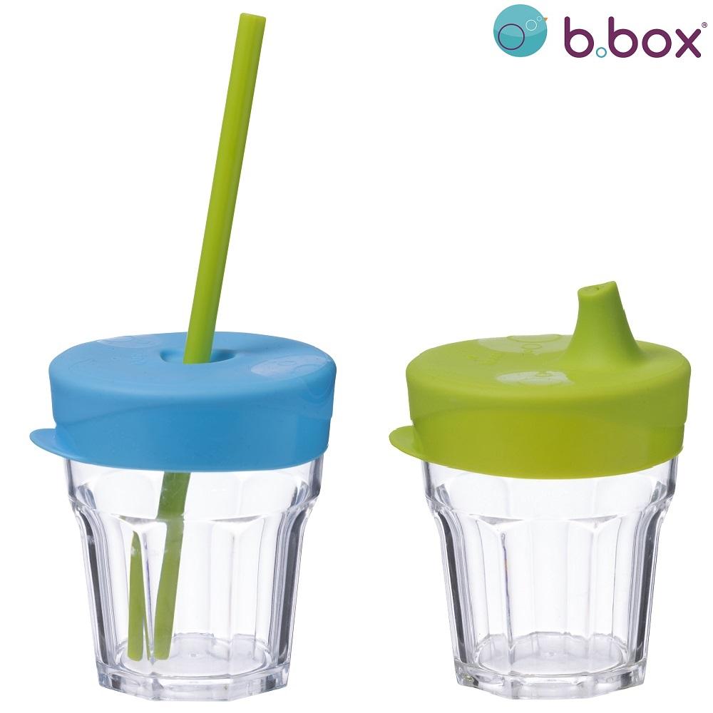 Silikonlock med sugrör och drickpip till glas B.box Travel Lid