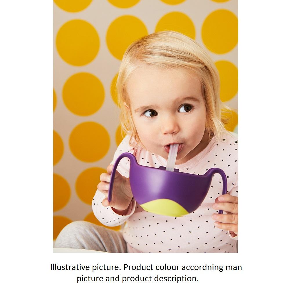 Barnskål med sugrör och snackslock B.box Bowl and Straw