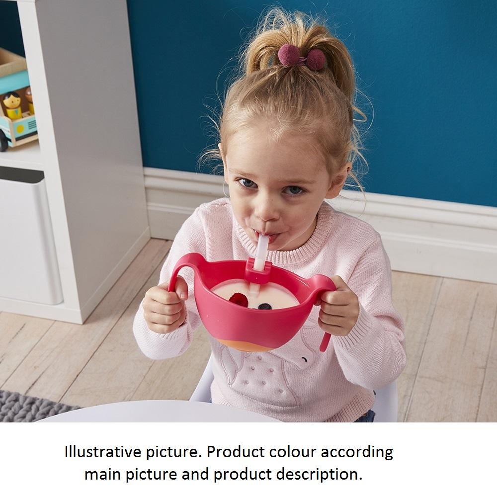 Matskål med sugrör för barn B.box Bowl and Straw XL