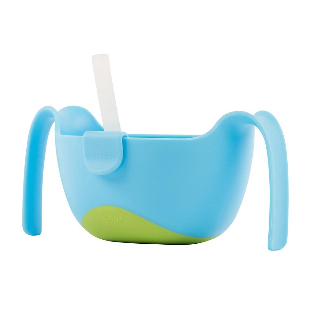 Matskål med sugrör för barn B.box Bowl and Straw XL Ocean Breeze