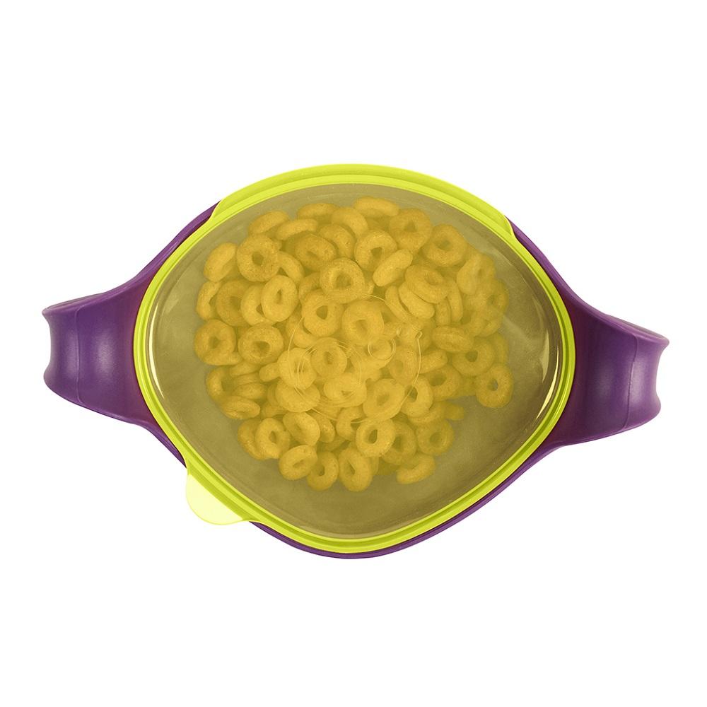 Matskål med sugrör för barn B.box Bowl and Straw XL Passion Splash