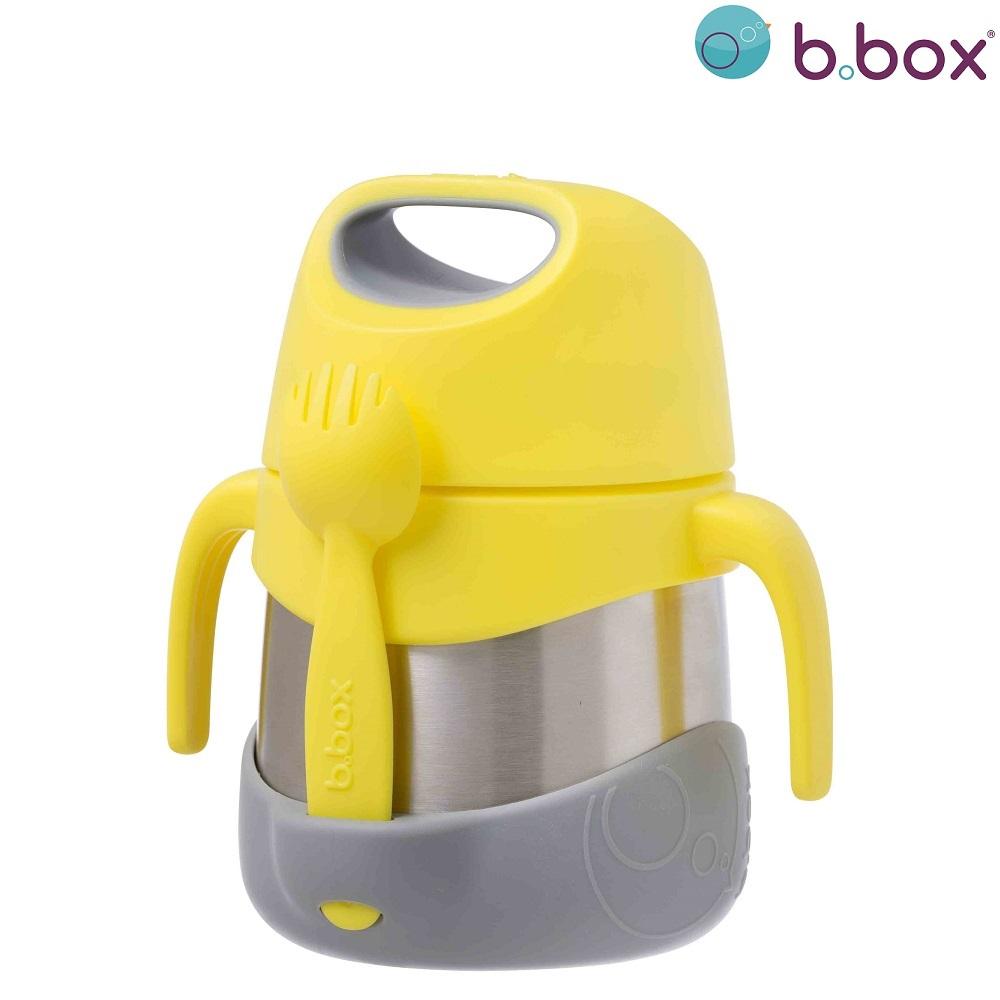 Mattermos med sked B.box Insulated Food Jar Lemon Sherbet