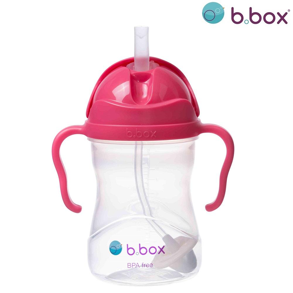B.box Sugrörsmugg - Raspberry