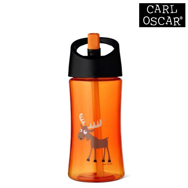 Vattenflaska barn Carl Oscar 350 ml Orange Moose