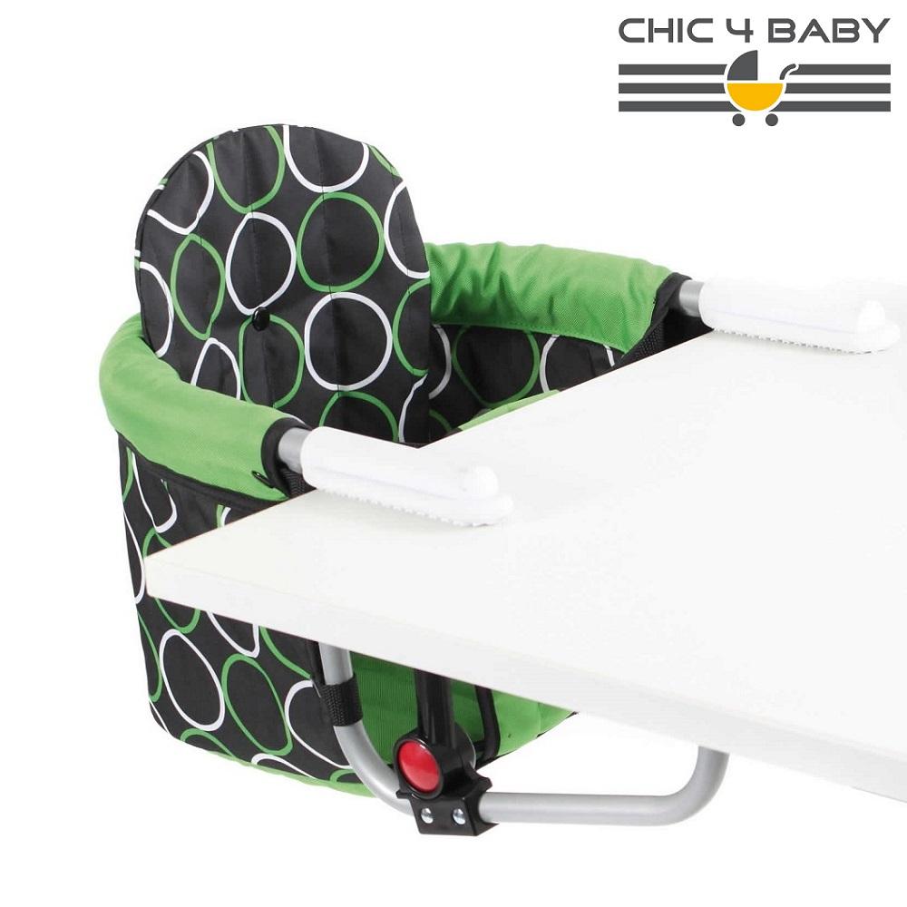Resebarnstol till bord Chic4Baby Green Orbit